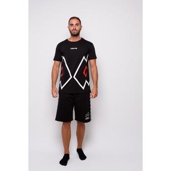 Abbigliamento Uomo T-shirt maniche corte Lotto T-shirt  Mezza Manica Jersey (ltu027-nero) Nero