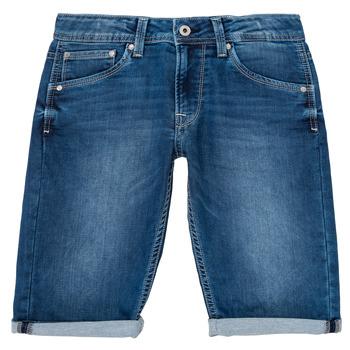 Abbigliamento Bambino Shorts / Bermuda Pepe jeans CASHED SHORT Blu