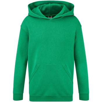 Abbigliamento Unisex bambino Felpe Fruit Of The Loom 62043 Verde