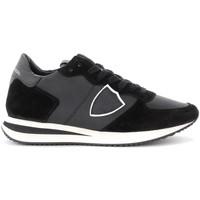 Scarpe Donna Sneakers basse Philippe Model Sneaker Tropez X in pelle e suede nero Nero