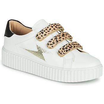 Scarpe Donna Sneakers basse Vanessa Wu BASKETS À SCRATCHS ANIMALIER Bianco / Leopard