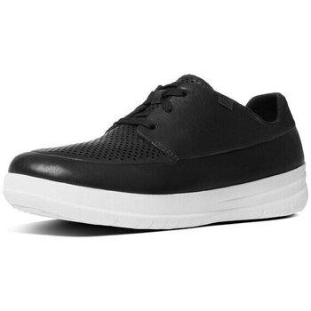 Scarpe Uomo Sneakers basse FitFlop MEN'S SPORTY POP PERFORATED SNEAKER - BLACK BLACK