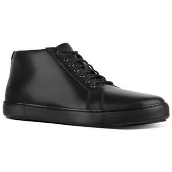 Scarpe Uomo Sneakers alte FitFlop ANDOR TUMBLED LEATHER - BLACK CO BLACK