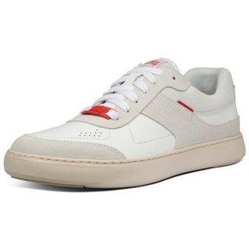 Scarpe Uomo Sneakers basse FitFlop CALEB LEATHER SNEAKERS - URBAN WHITE CO BLACK