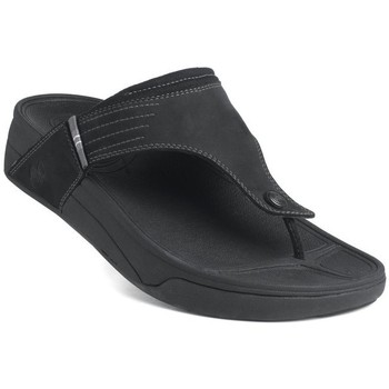 Scarpe Uomo Infradito FitFlop Dass TM - black nubuck (leather) BLACK