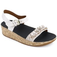 Scarpe Donna Sandali FitFlop RUFFLE TM BACK-STRAP SANDALS - CREAM BLACK