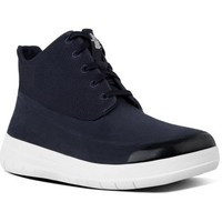 Scarpe Donna Sneakers basse FitFlop SPORTY-POP TM SOFTY HIGH-TOP - SUPERNAVY SUEDE BLACK