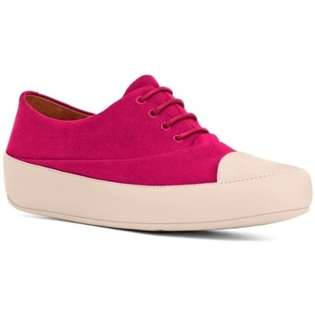 Scarpe Donna Sneakers basse FitFlop DUE TM OXFORD CANVAS- RIO PINK BLACK