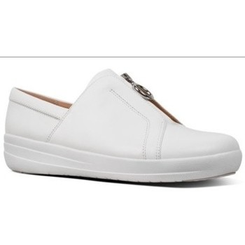 Scarpe Donna Sneakers basse FitFlop NEW ZIP SNEAKER LEATHER - URBAN WHITE BLACK