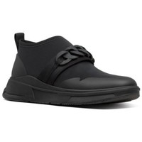 Scarpe Donna Mocassini FitFlop HEDA CHAIN SLIP - ON SNEAKERS - ALL BLACK es BLACK