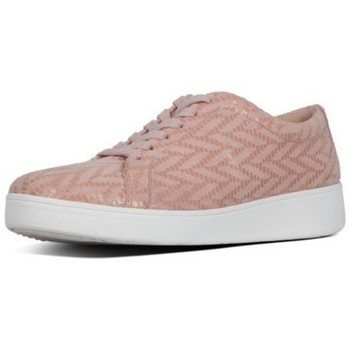 Scarpe Donna Sneakers basse FitFlop RALLY CHEVRON - SNEAKERS OLYSTER PINK BLACK