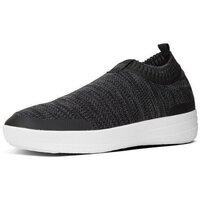 Scarpe Donna Sneakers alte FitFlop ÜBERKNIT TM SLIP-ON SNEAKERS - BLACK/SOFT GREY BLACK
