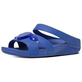 Scarpe Donna Sandali FitFlop LUNA TM POP SLIDE - ROYAL BLUE BLACK