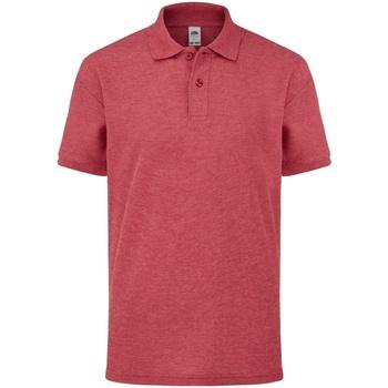 Abbigliamento Bambino Polo maniche corte Fruit Of The Loom 63417 Rosso