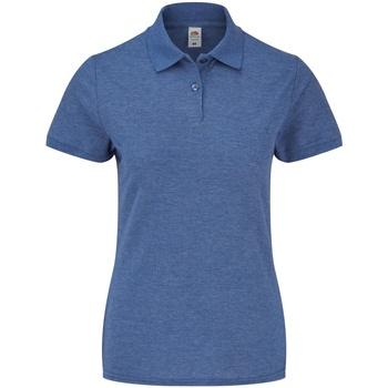 Abbigliamento Donna Polo maniche corte Fruit Of The Loom 63212 Blu