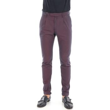 Abbigliamento Uomo Chino Briglia BG07-32051 Melanzana