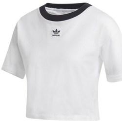 Abbigliamento Donna T-shirt maniche corte adidas Originals Crop Top Bianco, Nero
