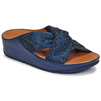 Scarpe Donna Sandali FitFlop TWISS CRYSTAL SLIDE Blu