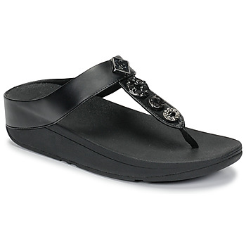 Scarpe Donna Infradito FitFlop FINO CIRCLE TOE-THONGS Nero