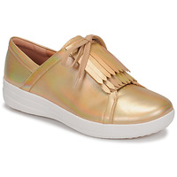 Scarpe Donna Sneakers basse FitFlop F-SPORTY II LACE UP FRINGE SNEAKERS-IRIDESCENT LTR Oro