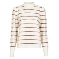 Abbigliamento Donna Maglioni Vero Moda VMCORNELIAPUFF Bianco / Marrone