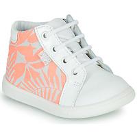 Scarpe Bambina Sneakers alte GBB FAMIA Bianco / Rosa