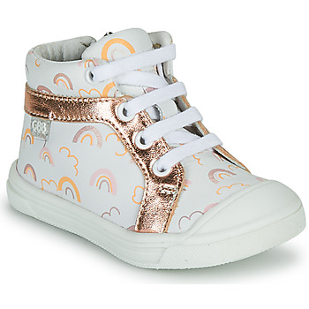 Scarpe Bambina Sneakers alte GBB LEOZIA Bianco / Rosa