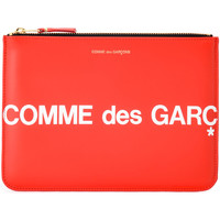 Borse Donna Portafogli Comme Des Garcons Bustina  Huge Logo in pelle color Rosso
