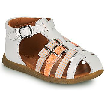 Scarpe Bambina Sandali GBB PERLE Bianco / Arancio