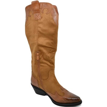 Scarpe Donna Stivali Malu Shoes Stivali donna camperos texani stile western cuoio fantasia astr CUOIO