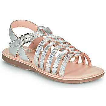 Scarpe Bambina Sandali Little Mary BARBADE Argento