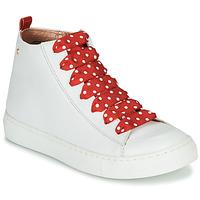 Scarpe Bambina Sneakers alte Little Mary SASHA (VE014) Bianco / Rosso