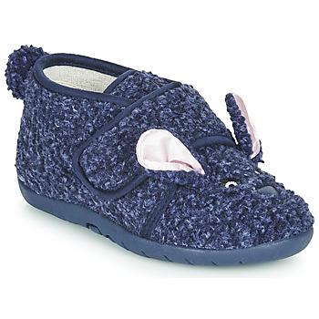 Scarpe Unisex bambino Pantofole Little Mary LAPINVELCRO Blu