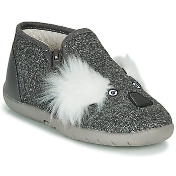 Scarpe Unisex bambino Pantofole Little Mary KOALAZIP Grigio