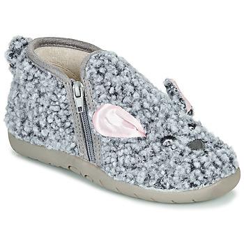 Scarpe Unisex bambino Pantofole Little Mary LAPINZIP Grigio