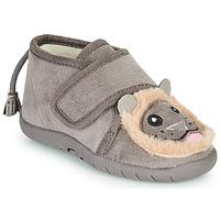 Scarpe Unisex bambino Pantofole Little Mary LIONVELCRO Grigio