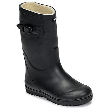Scarpe Unisex bambino Stivali da pioggia Aigle WOODY POP FUR Marine
