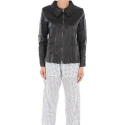 Abbigliamento Donna Giacca in cuoio / simil cuoio La Fabrique 607NSF In Pelle Donna Nero Nero