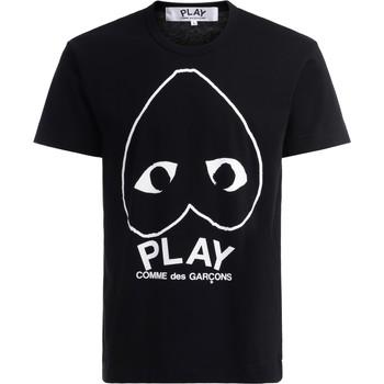 Abbigliamento Uomo T-shirt maniche corte Comme Des Garcons T-Shirt  in cotone nero con cuore Nero