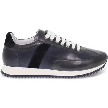 Scarpe Uomo Sneakers basse Brecos Sneakers  in pelle blu e grigio blu,grigio