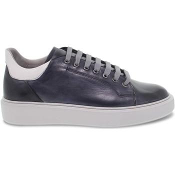 Scarpe Uomo Sneakers basse Brecos Sneakers  WIMBLEDON in pelle blu e grigio blu,grigio