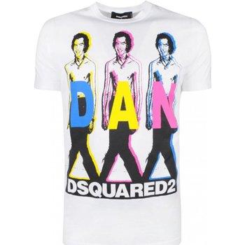 Abbigliamento Uomo T-shirt maniche corte Dsquared maniche corte S74GD0498 - Uomo bianco