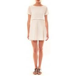 Abbigliamento Donna Abiti corti La Vitrine De La Mode Robe LC-0461 By La Vitrine Blanche Bianco