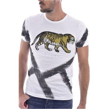 Abbigliamento Uomo T-shirt maniche corte Goldenim Paris maniche corte 1459-2 bianco