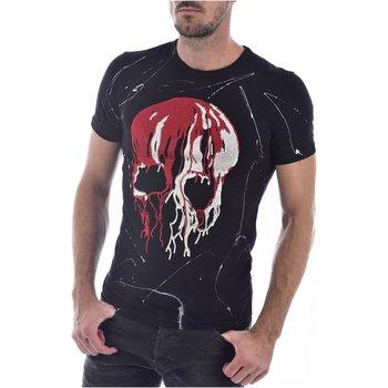 Abbigliamento Uomo T-shirt maniche corte Goldenim Paris maniche corte 1450-2 - Uomo nero