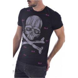 Abbigliamento Uomo T-shirt maniche corte Goldenim Paris maniche corte 1455-12 - Uomo nero