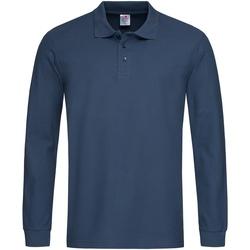 Abbigliamento Uomo Polo maniche lunghe Stedman  Blu navy