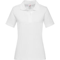 Abbigliamento Uomo Polo maniche lunghe Stedman  Bianco