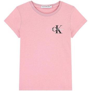Abbigliamento Bambina T-shirt maniche corte Calvin Klein Jeans IG0IG00573 Rosa