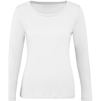 Abbigliamento Donna T-shirts a maniche lunghe B And C TW071 Bianco